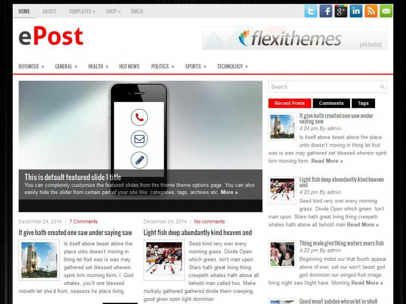ePost - News/Magazine WordPress Theme! Reponsive & SEO ...