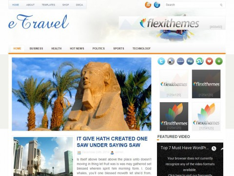eTravel WordPress Theme
