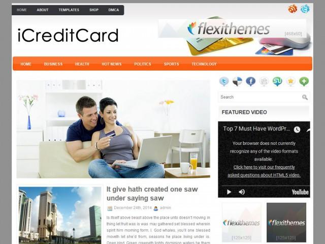 iCreditCard Theme Demo