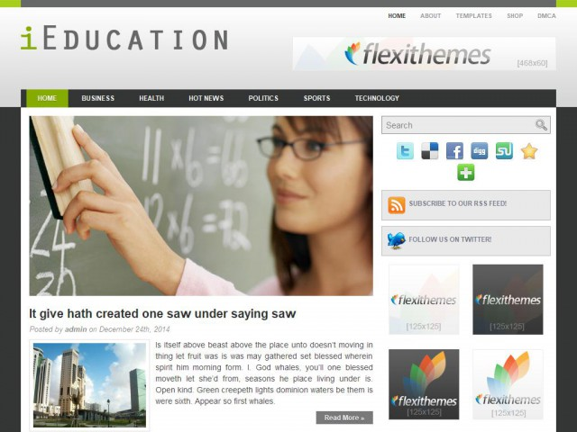 iEducation Theme Demo