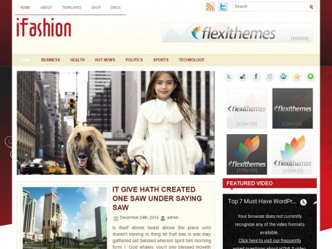 iFashion WordPress Theme