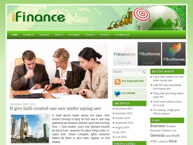 iFinance Theme Demo