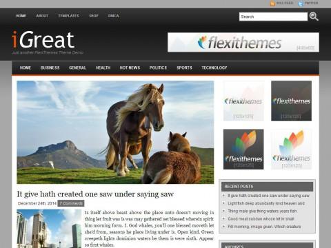 iGreat Black WordPress Theme