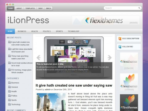iLionPress WordPress Theme