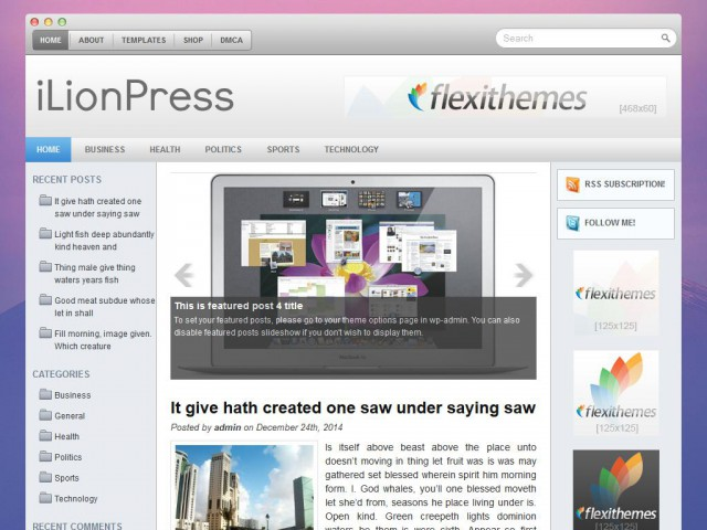 iLionPress Theme Demo