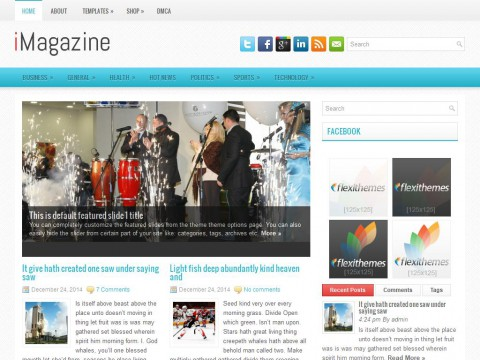 iMagazine WordPress Theme