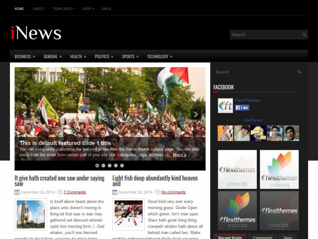 iNews Theme Demo