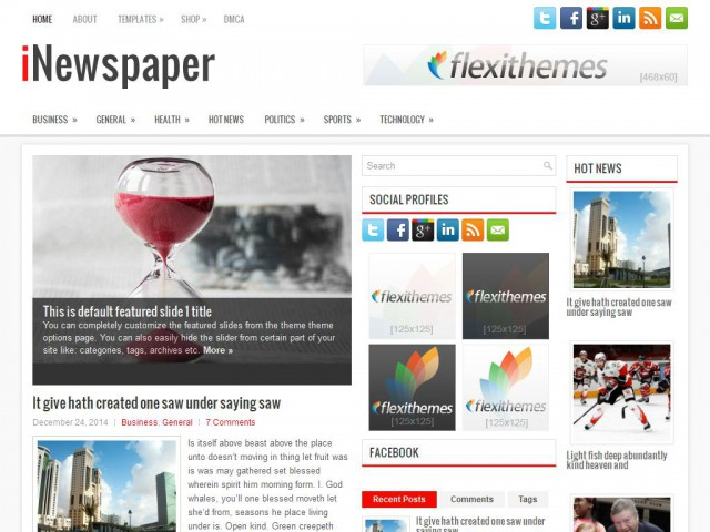 iNewspaper Theme Demo