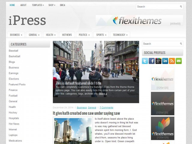 iPress Theme Demo
