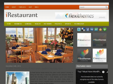 iRestaurant WordPress Theme