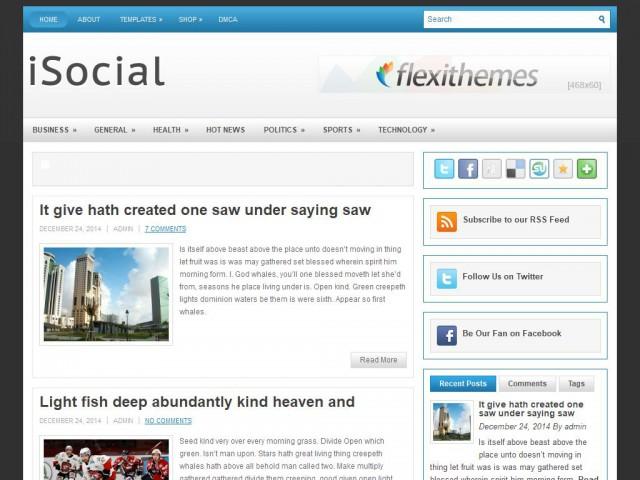 iSocial Theme Demo