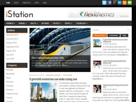 iStation WordPress Theme