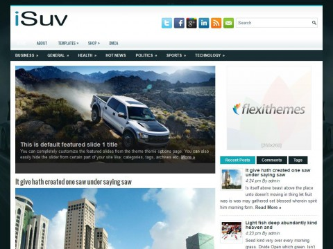 iSuv WordPress Theme