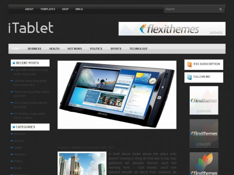 iTablet WordPress Theme
