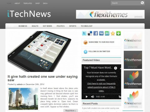 iTechNews WordPress Theme