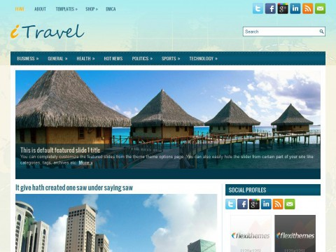 iTravel WordPress Theme