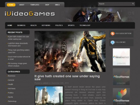 iVideoGames WordPress Theme