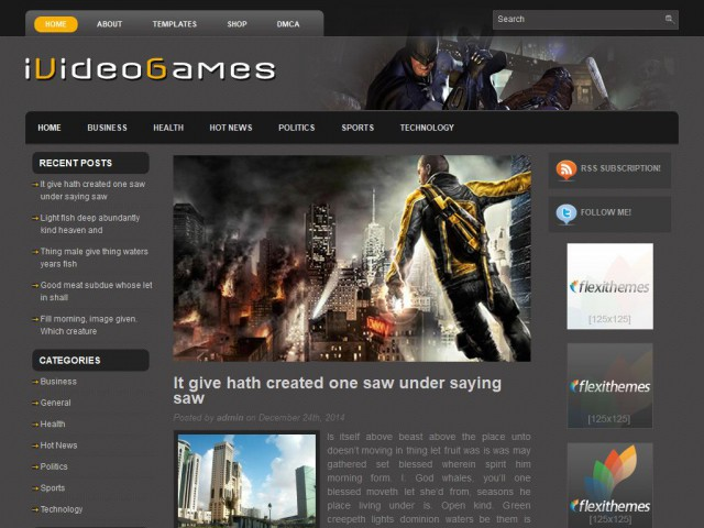 iVideoGames Theme Demo