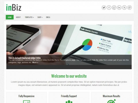 inBiz WordPress Theme