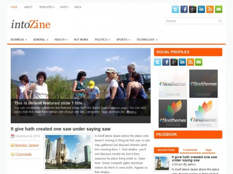 intoZine WordPress Theme