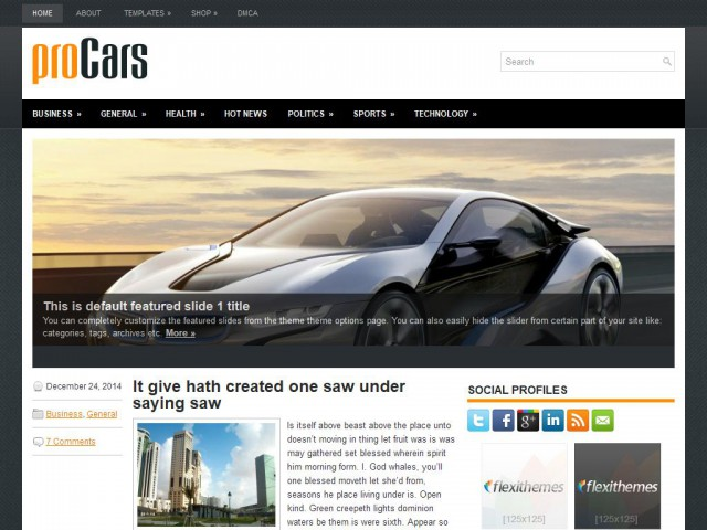 proCars Theme Demo