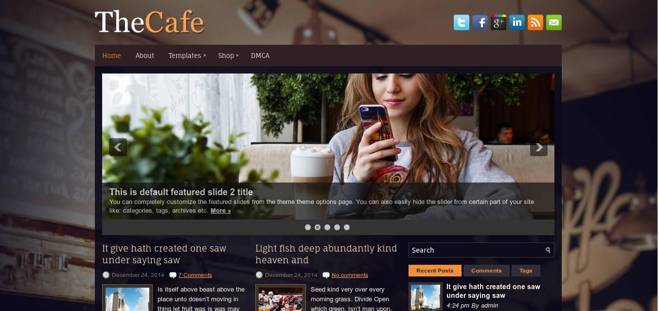 TheCafe WordPress Theme