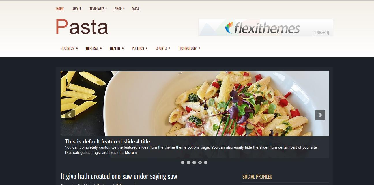 Pasta WordPress Theme