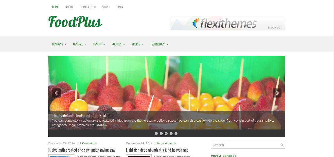 FoodPlus WordPress Theme