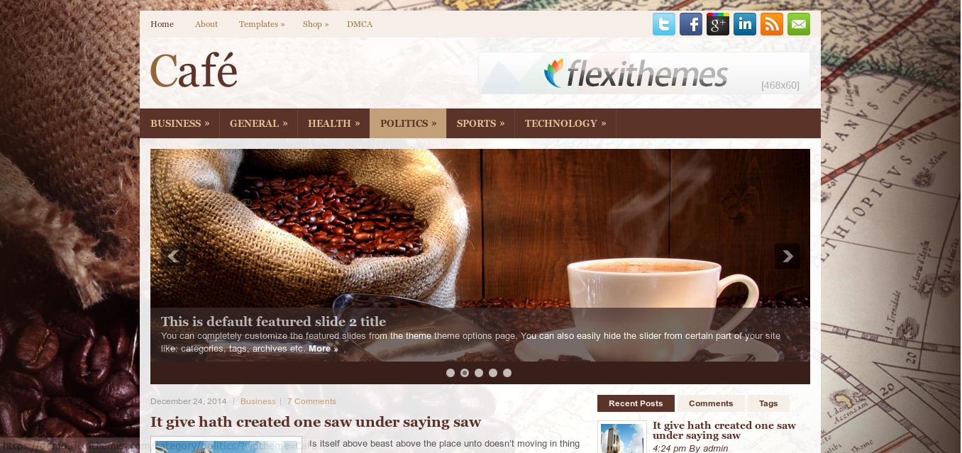 Café WordPress Theme