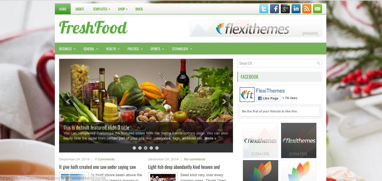 FreshFood WordPress Theme