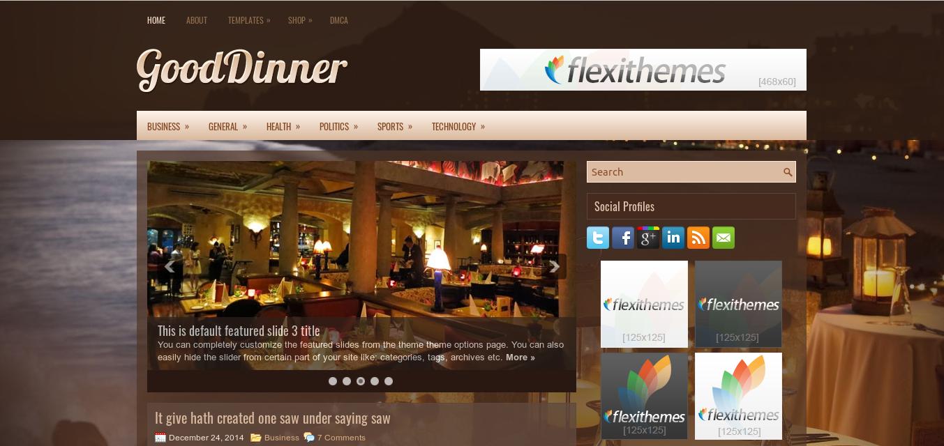 GoodDinner WordPress Theme