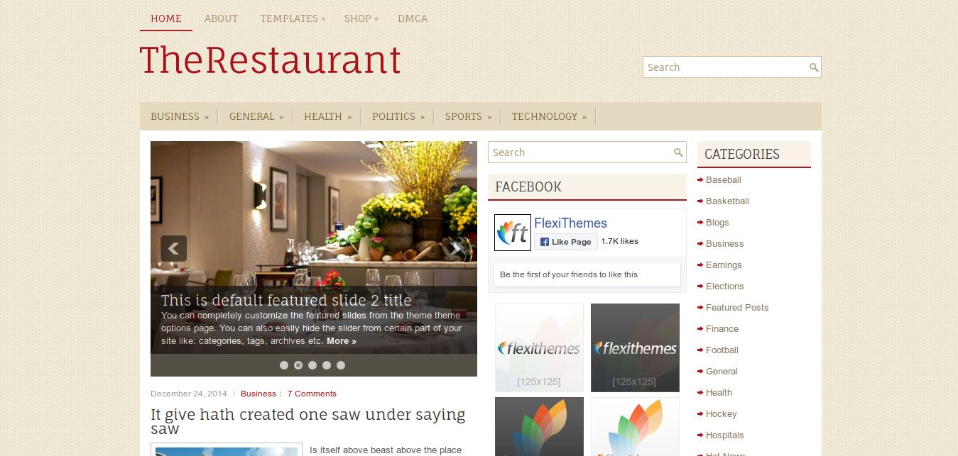 TheRestaurant WordPress Theme