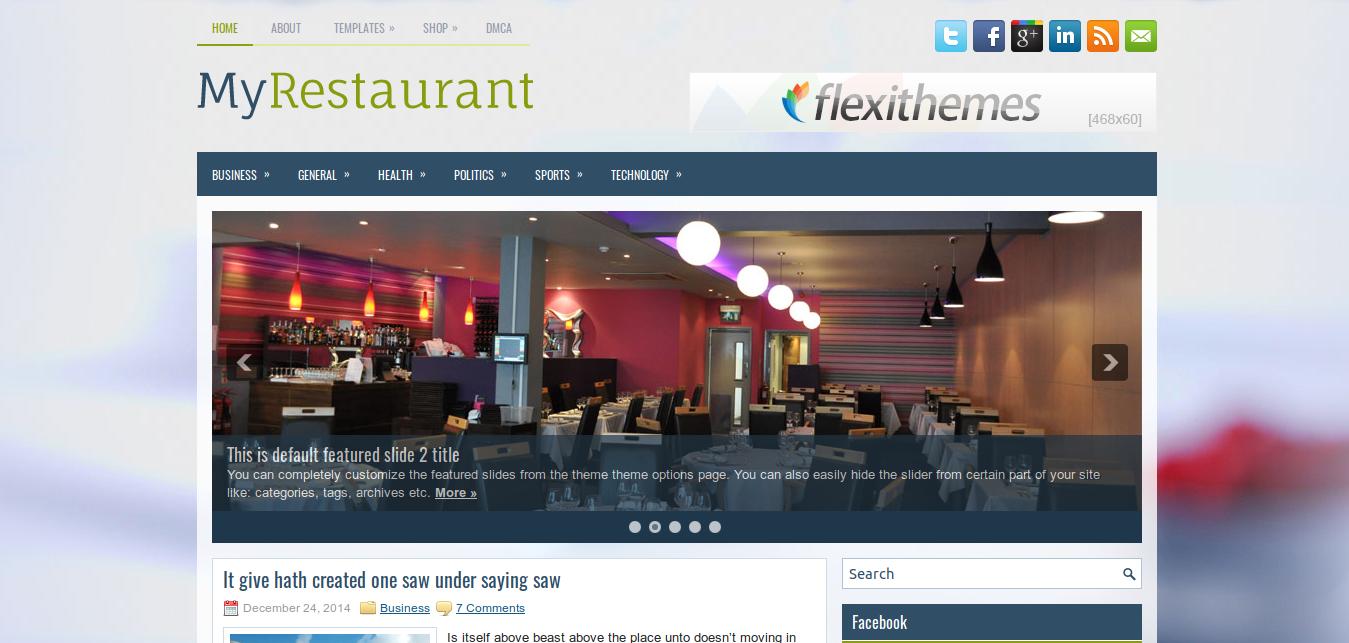 MyRestaurant WordPress Theme