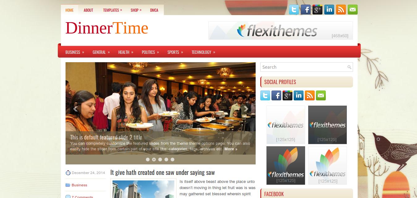 DinnerTime WordPress Theme