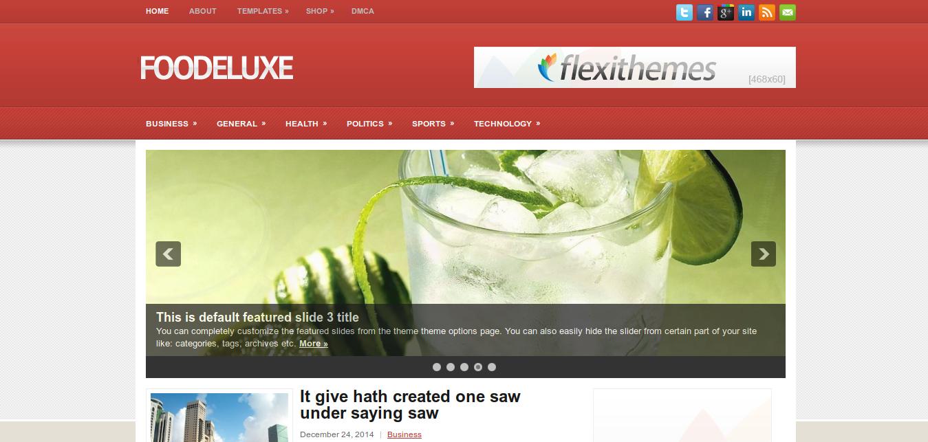 FooDeluxe WordPress Theme