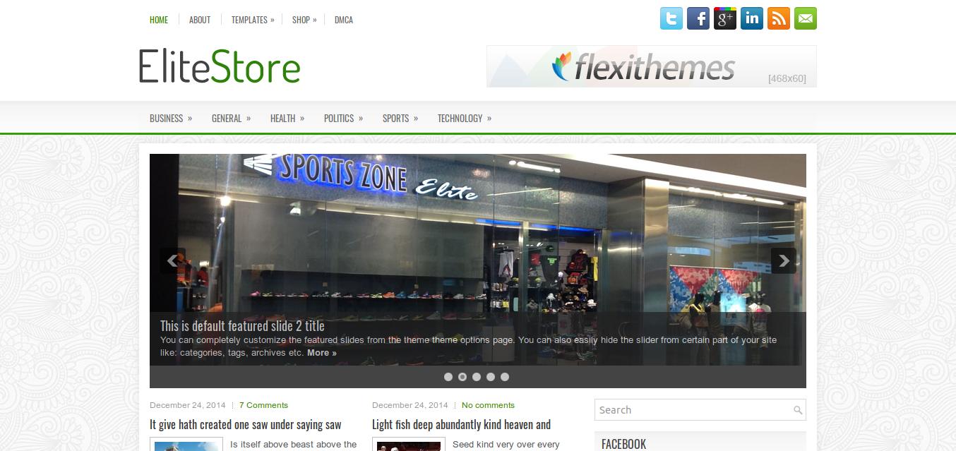 EliteStore WordPress Theme