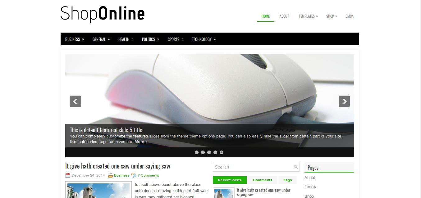 ShopOline WordPress Theme