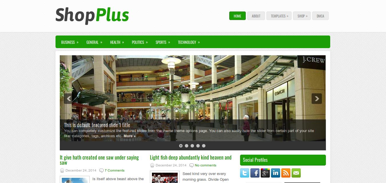 ShopPlus WordPress theme