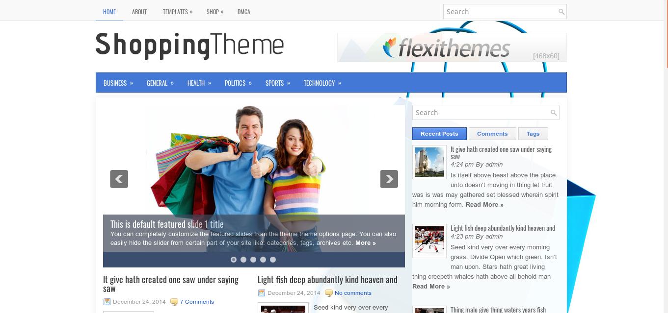 hoppingTheme WordPress theme