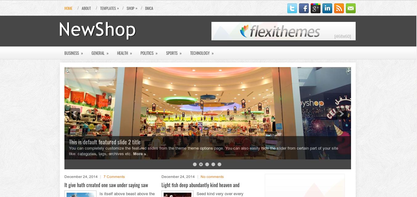NewShop WordPress theme