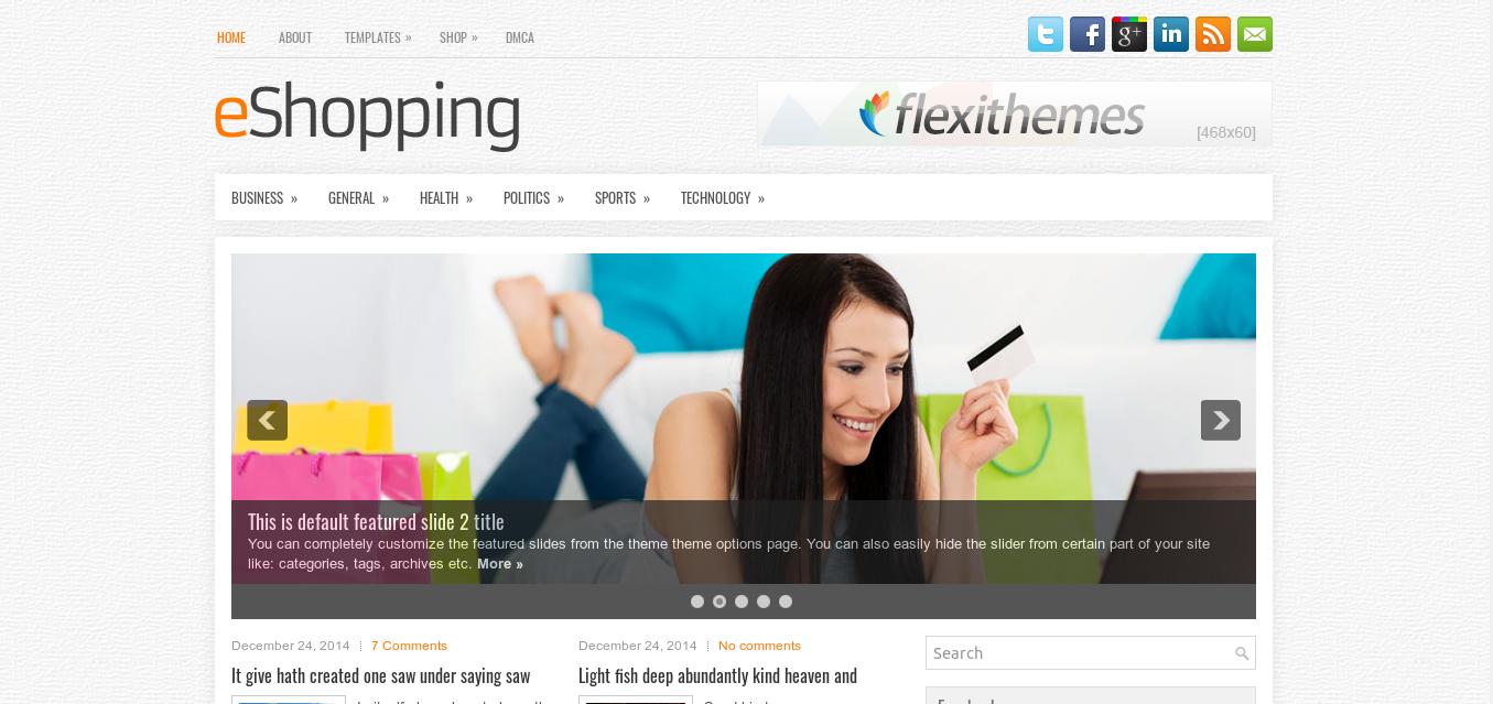 eShopping WordPress theme