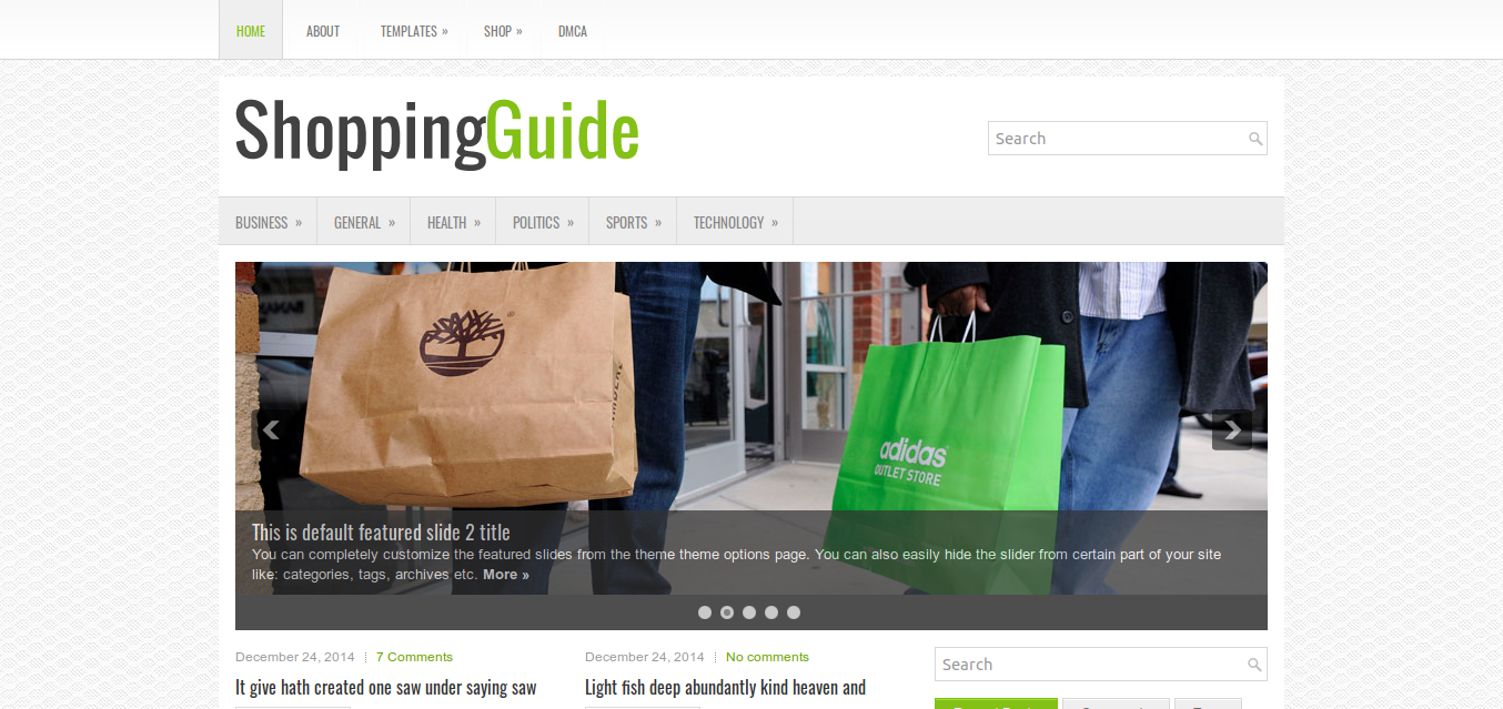 ShoppingGuide WordPress theme