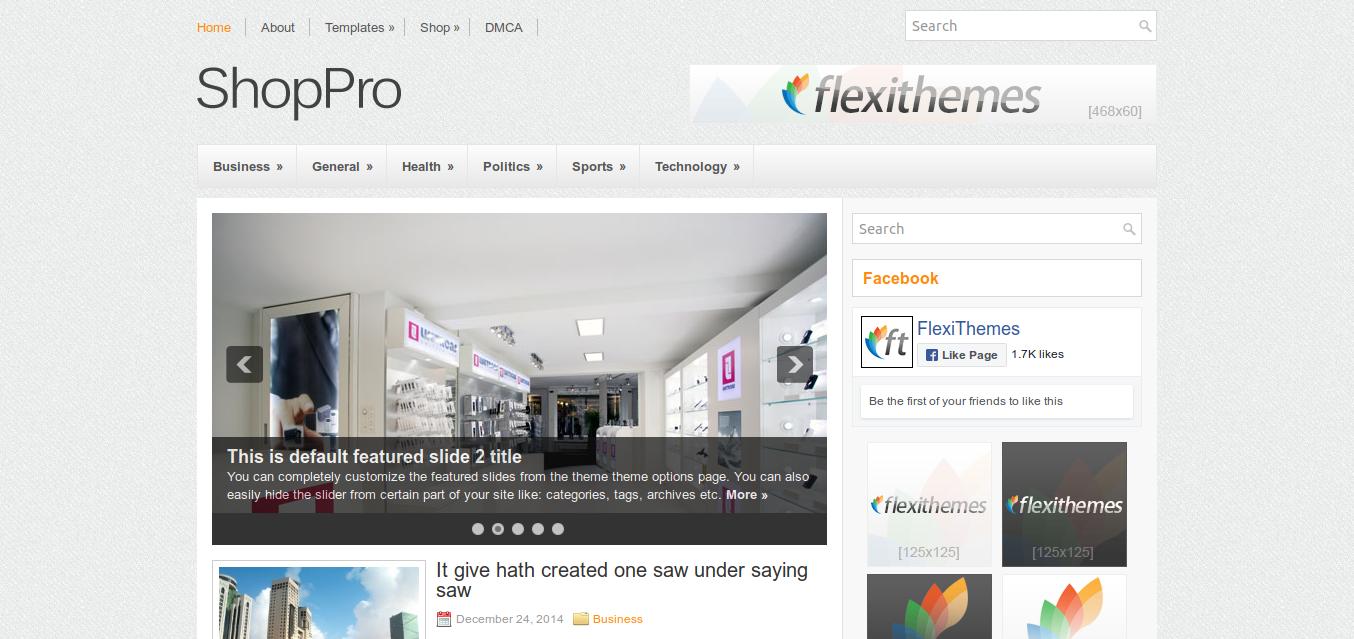 ShopPro WordPress theme