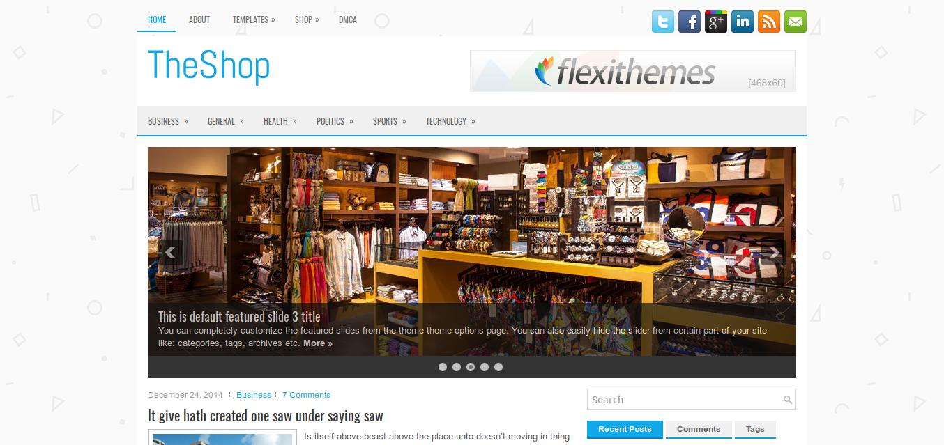 TheShop WordPress theme