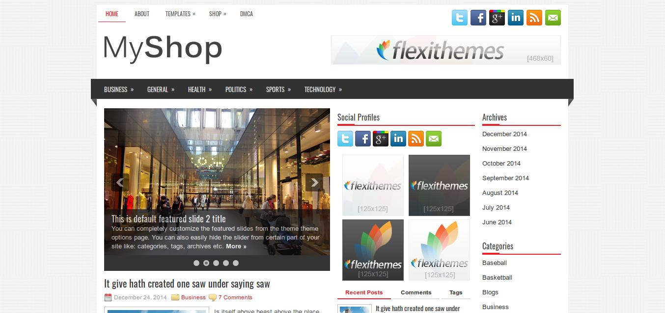 MyShop WordPress theme