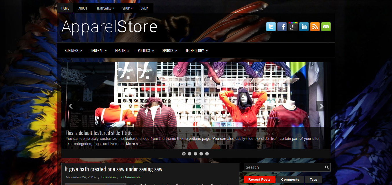 ApparelStore WordPress theme