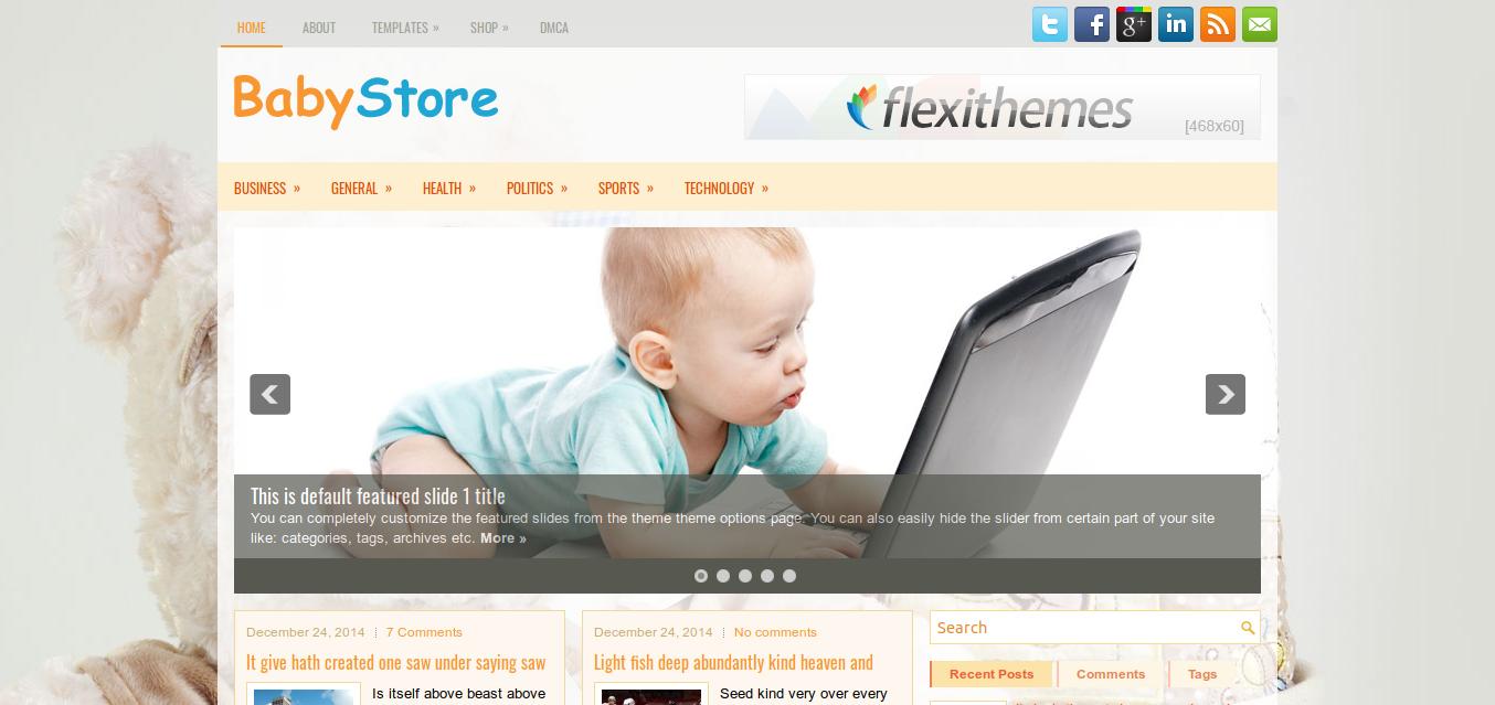 BabyStore WordPress theme