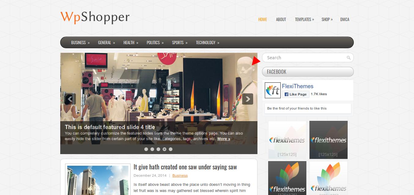WpShopper WordPress theme