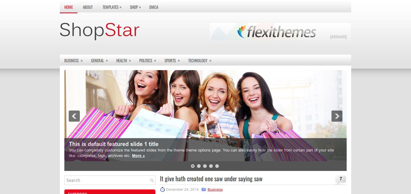 ShopStar WordPress theme