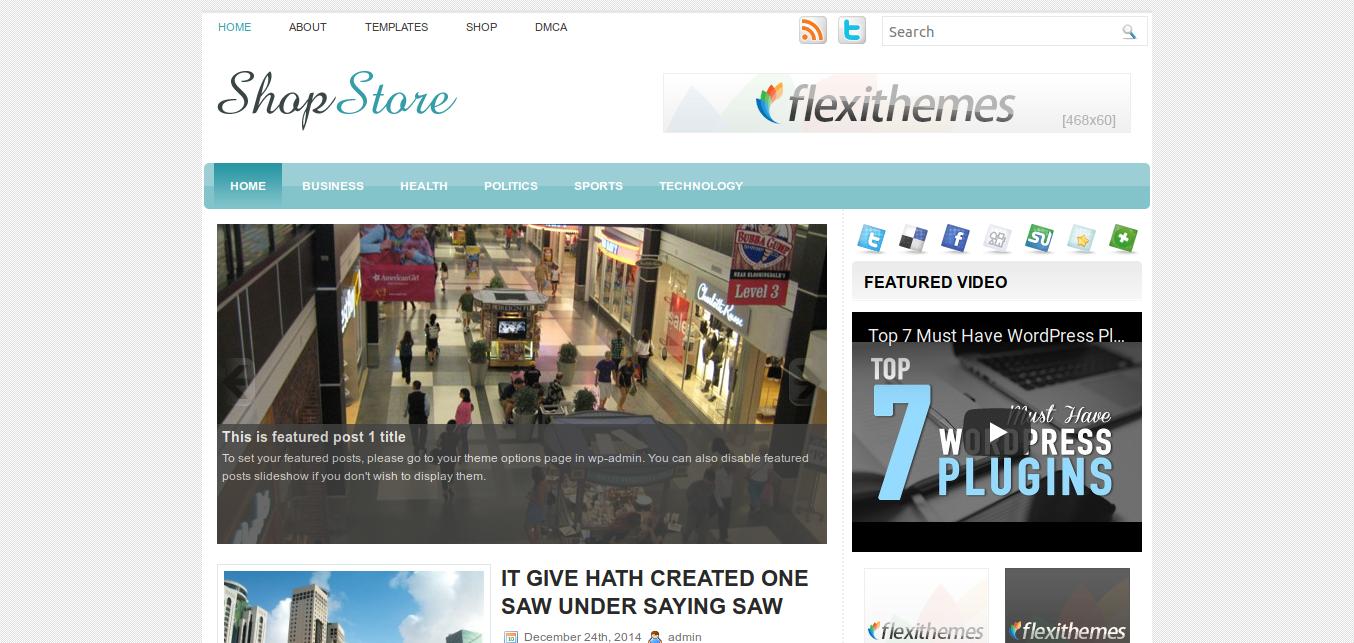 ShopStore WordPress theme
